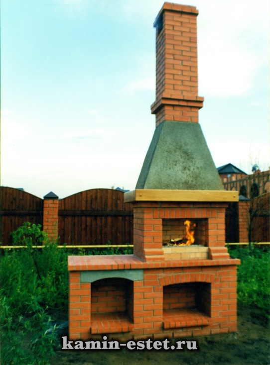 печь для приготовления шашлыков Старые Вешки. работа 1998г.